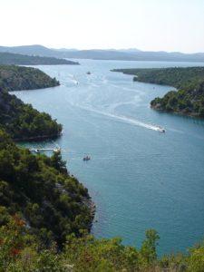 Eindruck Skradinbrücke Prokljan See Tag