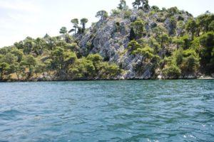 Eindruck Felsen am Wasser 2